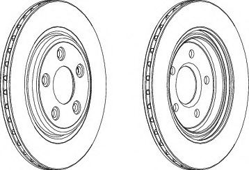 Тормозной диск  арт. DDF1108