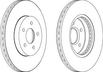 Тормозной диск Ferodo  арт. DDF1125