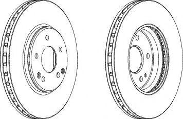 Тормозной диск FERODO DDF1136