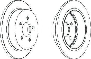 Тормозной диск Ferodo  арт. DDF1186