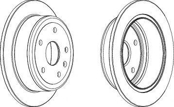 Тормозной диск  арт. DDF1188