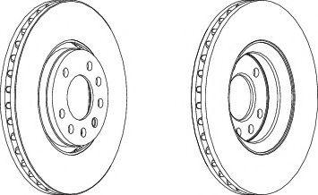 Тормозной диск Ferodo  арт. DDF1215