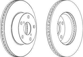 Тормозной диск FERODO DDF1216