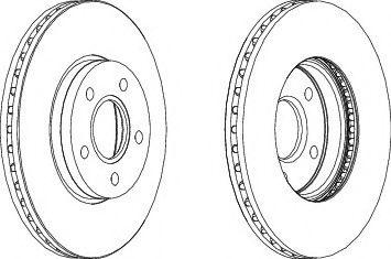 Тормозной диск FERODO DDF1222