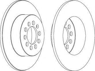 Тормозной диск зад. к-кт 2шт. Caddy III/Octavia/Golf V/VI 04- (255x10) FERODO DDF1224