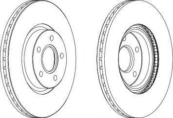 Тормозной диск  арт. DDF1225