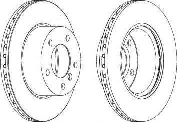 Тормозной диск  арт. DDF1228