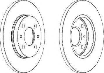 Тормозной диск  арт. DDF125