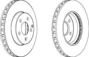 Тормозной диск FERODO DDF1252