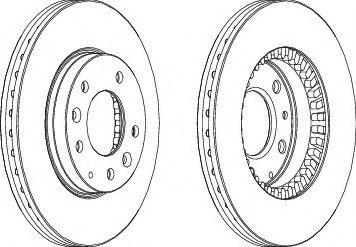 Тормозной диск FERODO DDF1278