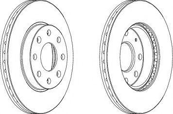 Тормозной диск Ferodo Aveo перед.  арт. DDF1279