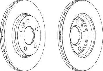 Тормозной диск зад.к-кт 2шт. T5 03- (294x22) FERODO DDF1286