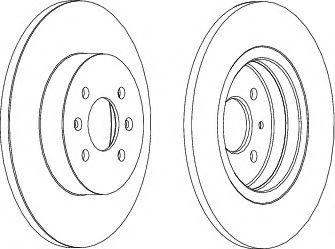 Тормозной диск FERODO DDF1295