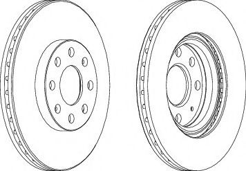 Тормозной диск Ferodo FERODO арт. DDF1304
