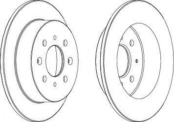 Гальмівний диск  арт. DDF1358