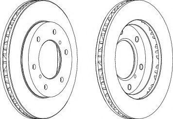 Тормозной диск FERODO DDF1384