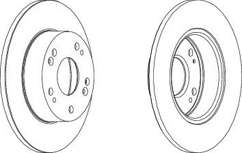 Тормозной диск Ferodo  арт. DDF1390