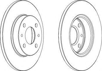 Тормозной диск Ferodo  арт. DDF140