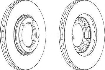 Тормозной диск Ferodo  арт. DDF1404