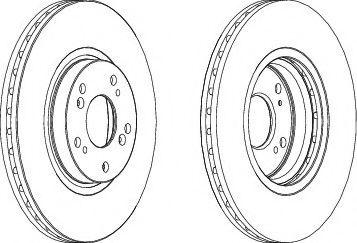 Тормозной диск FERODO DDF1424