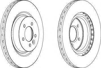 Тормозной диск FERODO DDF1434