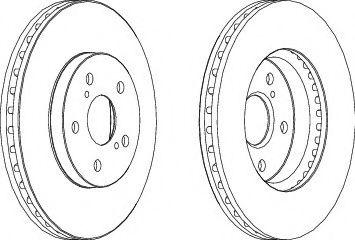 Тормозной диск FERODO DDF1446