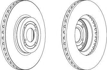 Тормозной диск FERODO DDF1461