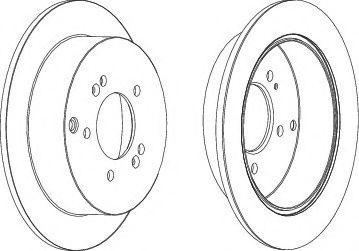 Тормозной диск Ferodo  арт. DDF1493