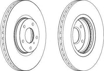 Тормозной диск FERODO DDF1505