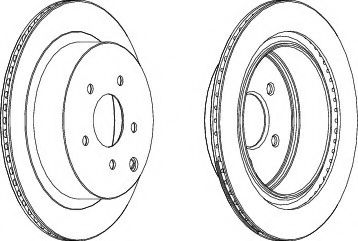 Тормозной диск  арт. DDF1506