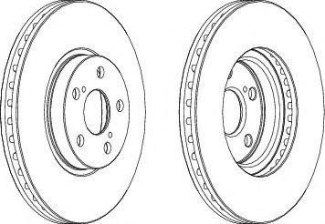 Тормозной диск FERODO DDF1508