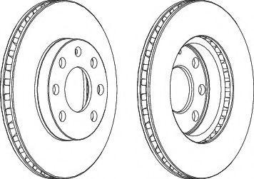 Тормозной диск Ferodo Daewoo Lanos  1.5 перед.  арт. DDF151