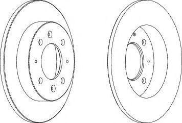 Тормозной диск FERODO DDF1541
