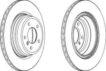 Гальмівний диск  арт. DDF1550