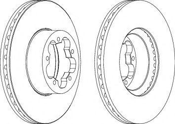 Тормозной диск FERODO DDF1554
