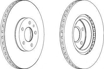 Тормозной диск перед. Doblo 10-/Combo 12- (284mm)(к-кт 2 шт.)  арт. DDF156
