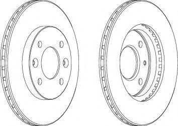 Тормозной диск Ferodo  арт. DDF158