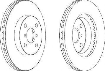 Тормозной диск Ferodo  арт. DDF1587