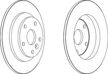 Тормозной диск Ferodo  арт. DDF1616