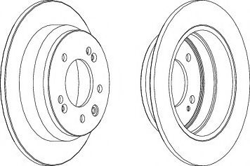 Тормозной диск Ferodo  арт. DDF1618