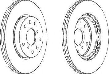 Тормозной диск FERODO DDF1620