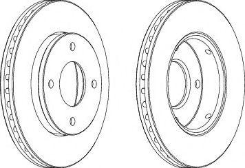 Тормозной диск FERODO DDF1621