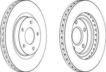 Тормозной диск Ferodo  арт. DDF1624