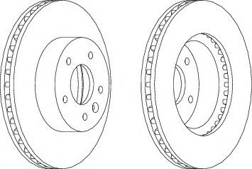 Тормозной диск Ferodo  арт. DDF1625