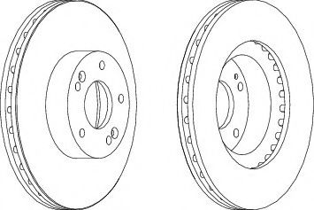 Тормозной диск Ferodo  арт. DDF1630
