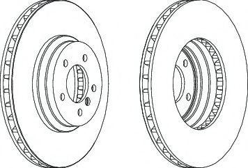 Тормозной диск Ferodo  арт. DDF1634