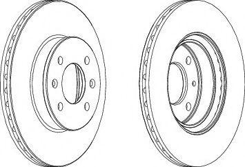 Тормозной диск Ferodo  арт. DDF1636