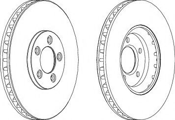 Тормозной диск Ferodo  арт. DDF1648