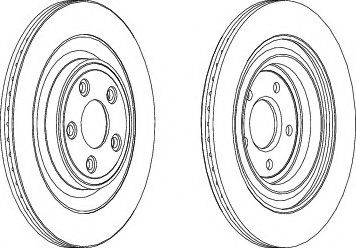 Тормозной диск  арт. DDF1703