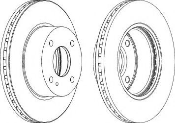 Тормозной диск FERODO DDF1740